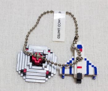BOXLEBEL Famicom Character Figure Key Chain Xevious Namco JAPAN NES