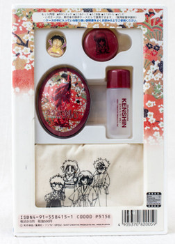 Rurouni Kenshin Kaoru Kamiya Goods Set Case Drawstring bag Pins JAPAN ANIME