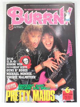 1990/06 BURRN! Japan Rock Magazine PRETTY MAIDS/GUNS N' ROSES/RUNNING WILD/DIO