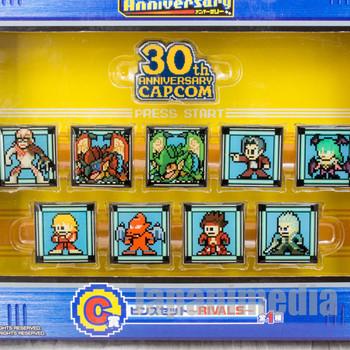 Capcom Character Design 30th Pins Set Morrigan Red Gargoyle JAPAN ANIME GAME
