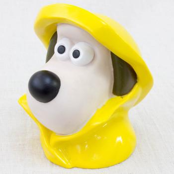 "Wallace & Gromit GROMIT 3.5"" Head PVC Figure Raincoat JAPAN Ardman ANIME"