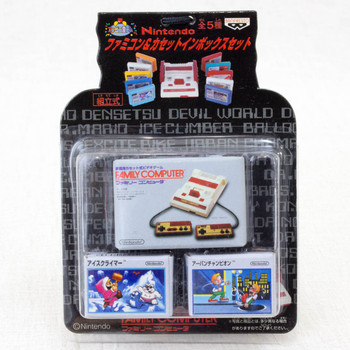 Famicom & Casette in Box Set Miniature Figure Ice Climber JAPAN NES NINTENDO