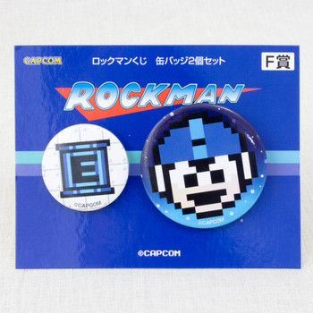 Rockman Pins Can Badge 2pc Set JAPAN GAME CAPCOM MEGAMAN