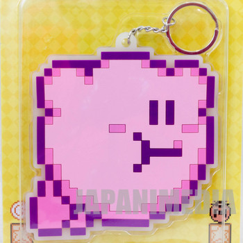Kirby Super Star Hovering Ver. Big Rubber Mascot Key Chain Banpresto JAPAN GAME