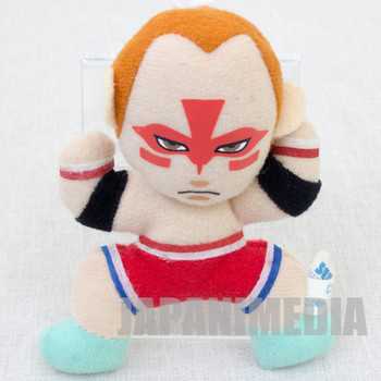 "Virtua Fighter 2 Wolf Hawkfield 3.5"" Mini Plush Doll SEGA 1995 JAPAN GAME 2"