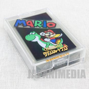 Super Mario World Trump Clear Playing Cards Mario on Yoshi JAPAN FAMICOM
