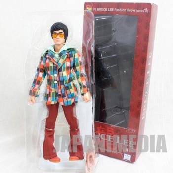 BRUCE LEE 1/6 Fashion Show Figure Madras jacket Medicom Toy JAPAN KUNG FU MOVIE
