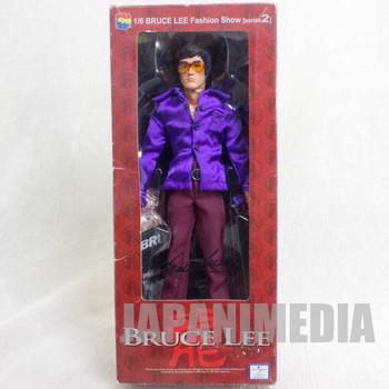 BRUCE LEE 1/6 Fashion Show Figure Purple Shirt Medicom Toy JAPAN KUNG FU MOVIE