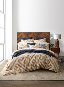 Florence Broadhurst Chinese Key Gold Super King Bed Quilt Cover Set