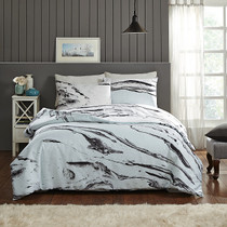 In 2 Linen Marabelle Marble Super King Bed Quilt Cover Set