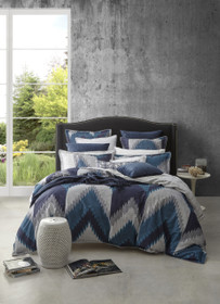 Florence Broadhurst Flamestitch Teal Queen Bed Quilt Cover Set