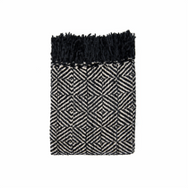 In 2 Linen Stanford Chenille Throw Rug | Black