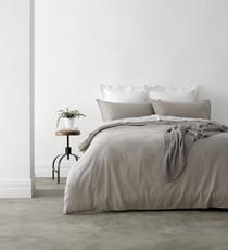 In 2 Linen Vintage Washed King Bed Quilt Cover Set | Linen