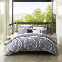 Private Collection Ezra Navy Queen Bed Quilt Cover Set