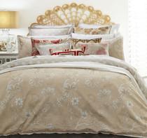 Florence Broadhurst Egrets Blush Queen Bed Quilt Cover Set