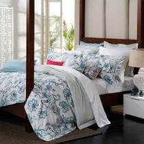 Florence Broadhurst Egrets Teal Queen Bed Quilt Cover Set