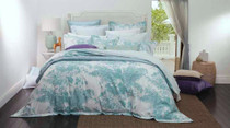 Florence Broadhurst Shadow Teal King Bed Quilt Cover Set