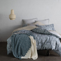 KAS Henley Denim King Bed Quilt Cover Set