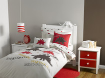 Whimsy Kids Stegosaurus Double Bed Quilt Cover Set