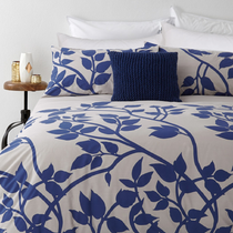 In 2 Linen Madison Blue Double Bed Quilt Cover Set