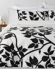 In 2 Linen Madison Black Single Bed Quilt Cover Set