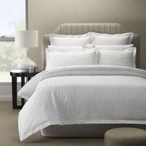In 2 Linen 500tc Paris Stripe Double Bed Quilt Cover Set