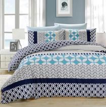 In 2 Linen Bailey Queen Bed Quilt Cover Set