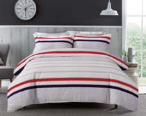 In 2 Linen Oli Striped Queen Bed Quilt Cover Set