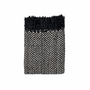 In 2 Linen Stanford Chenille Throw Rug | Black