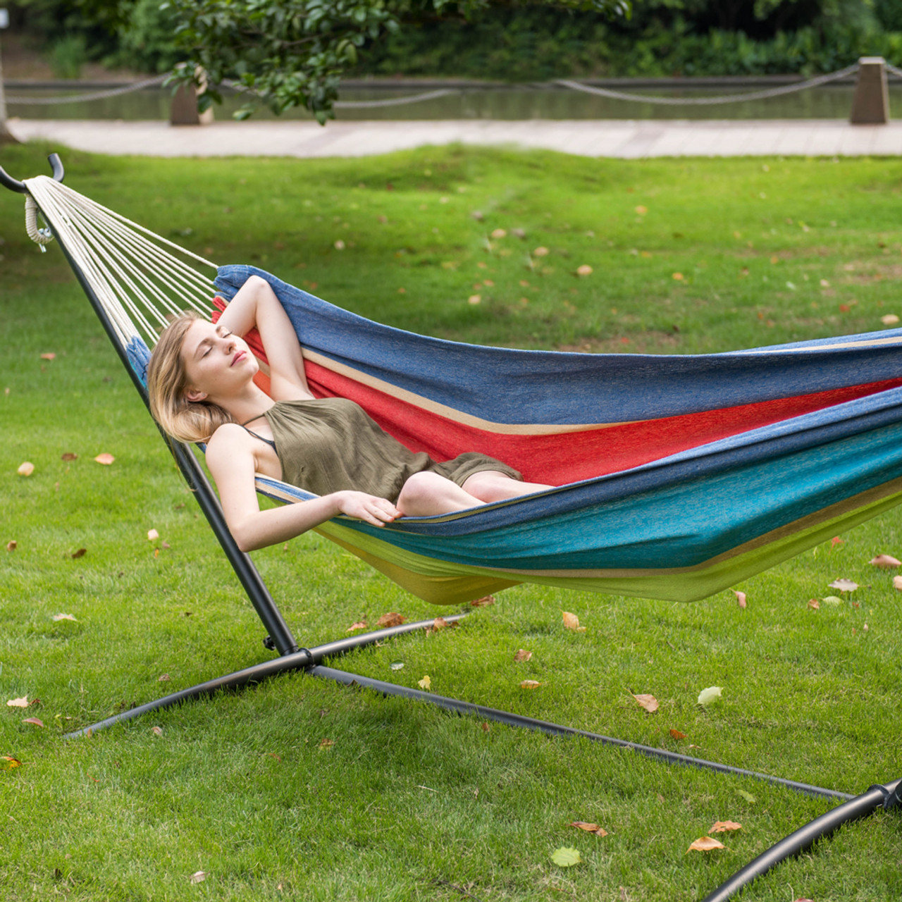 hammocks for person long today universal product overstock hammock stand free garden sunnydaze heavy duty home shipping