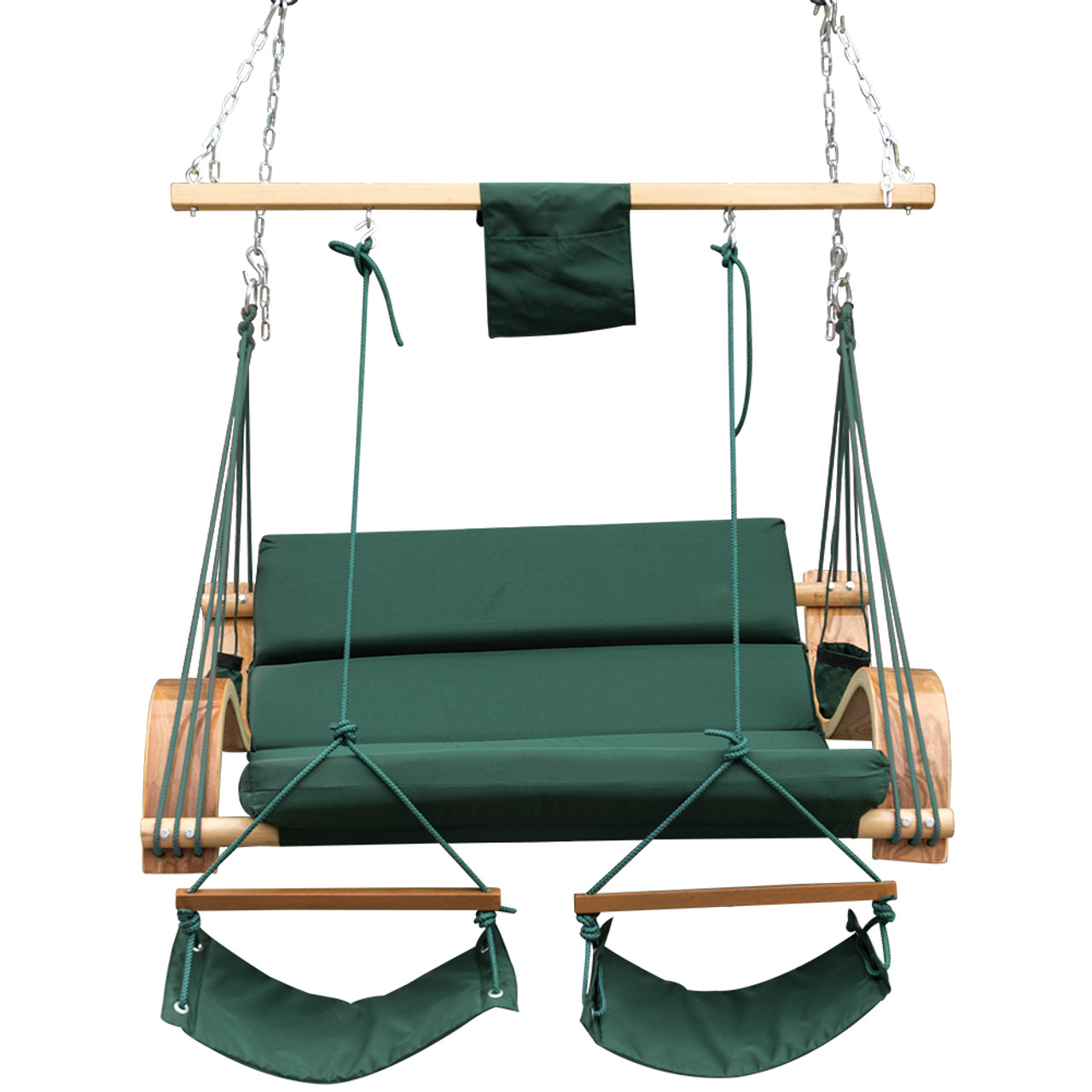 Lazy Daze Hammocks Deluxe Oversized Double Hanging Rope Chair Cotton Padded  Swing Chair Wood Arc Hammock ...