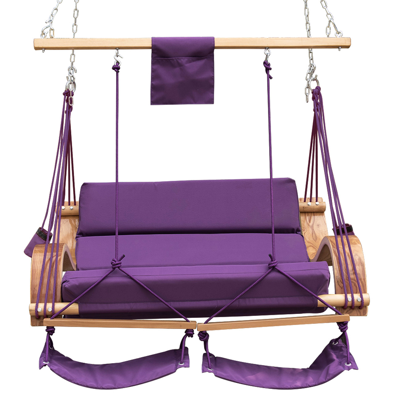 Amazing Lazy Daze Hammocks Deluxe Oversized Double Hanging Rope Chair Cotton Padded  Swing Chair Wood Arc Hammock ...