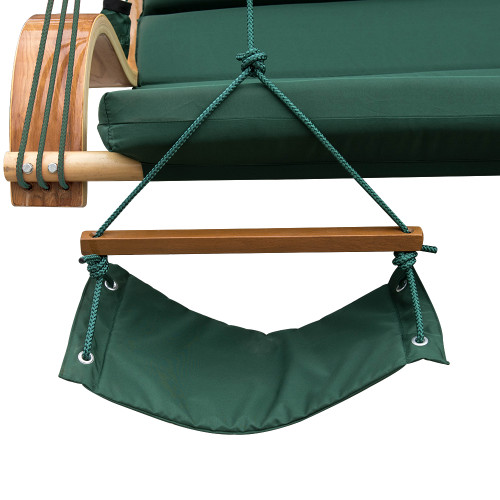 Lazy Daze Hammocks Deluxe Oversized Double Hanging Rope Chair Cotton Padded  Swing Chair Wood Arc Hammock Seat ...