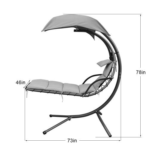 lazy daze hammocks dream chair with umbrella hanging chaise lounge chair arc curved hammock  lake blue  daze hammocks dream chair with umbrella hanging chaise lounge      rh   lazydazehammocks