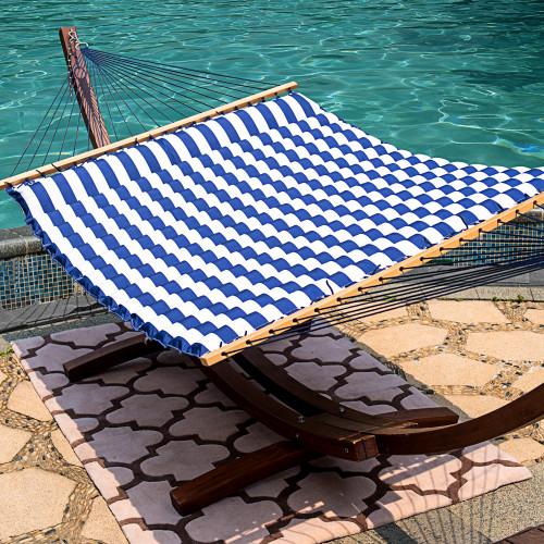 lazy daze hammocks 58 inch double size pillow top hammock swing bed with spreader bar heavy duty     daze hammocks 58 inch double size pillow top hammock swing bed      rh   lazydazehammocks