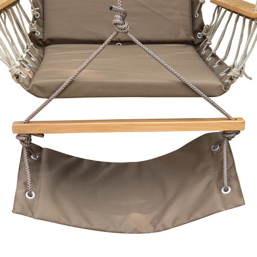 Lazy Daze Hammocks Hanging Rope Chair Cotton Padded Swing Chair Hammock Seat with Cup HolderFootrestu0026Hardware ...  sc 1 st  Lazy Daze Hammocks & Lazy Daze Hammocks Hanging Rope Chair Cotton Padded Swing Chair ...