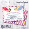 Super Girl Birthday // Birthday Party Invitation
