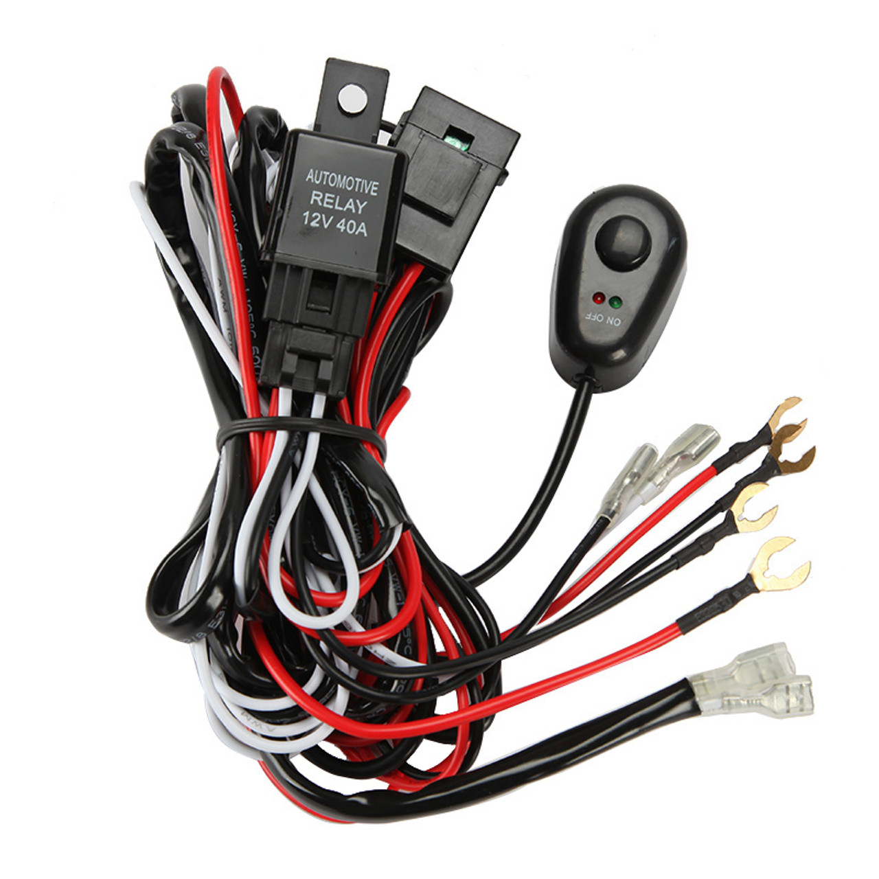 12v 40a led light bar wiring harness kit dual lights rh 4x4truckleds com ez wiring harness kits auto wiring harness kits