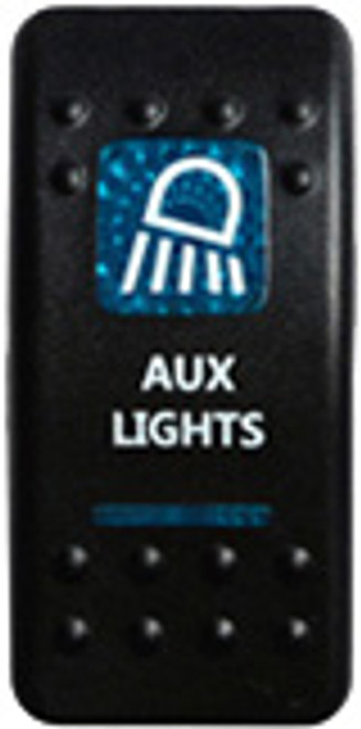 Aux Lights Rocker Switch (Blue)