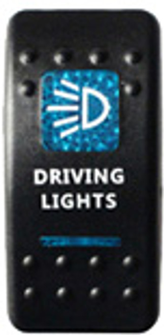 Driving Lights Rocker Switch (Blue)