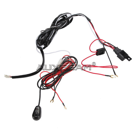 12v 40a led light bar wiring harness kit  single light