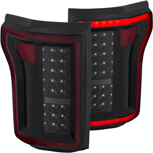 2015-2017 Ford F-150 Anzo DRL Outline LED Tail Lights (Black)