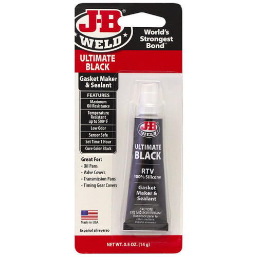 J-B Weld Ultimate Black RTV Silicone Gasket Maker and Sealant - 0.5 oz.