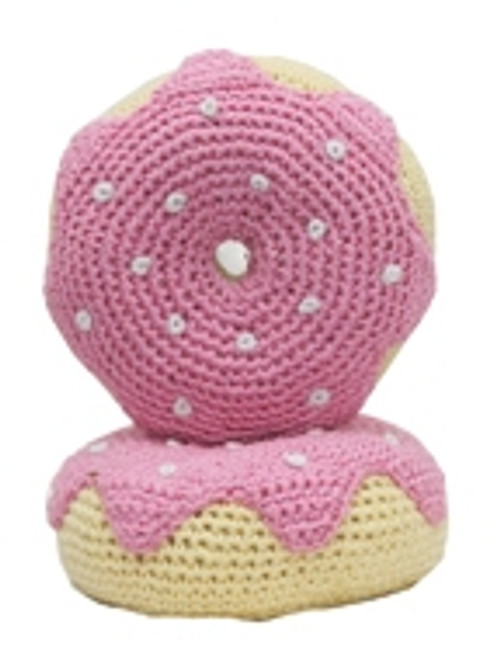 Strawberry Donut Crochet Toy