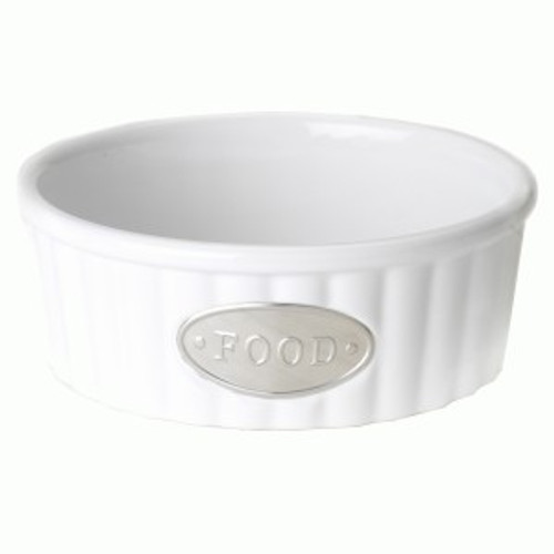 White FOOD Tagged Bowl