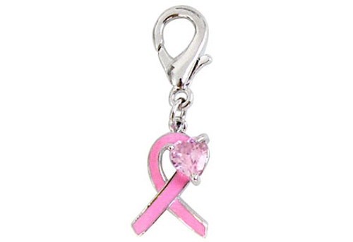 "The ""Believe"" Breast Cancer Charm"
