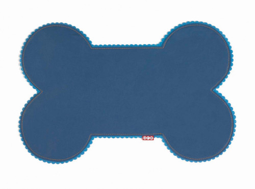 Blue Faux Leather Bone Placemat