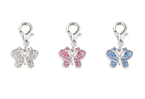 Crystal Butterfly Charms