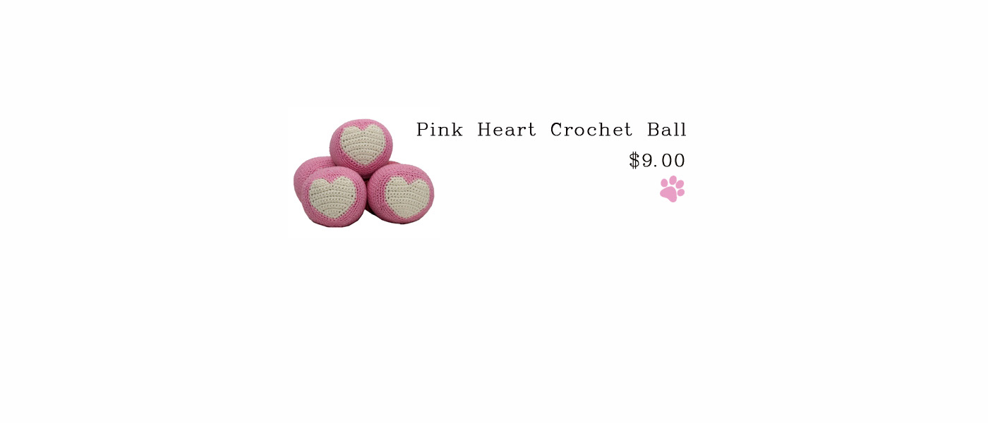Pink Heart Crochet Ball
