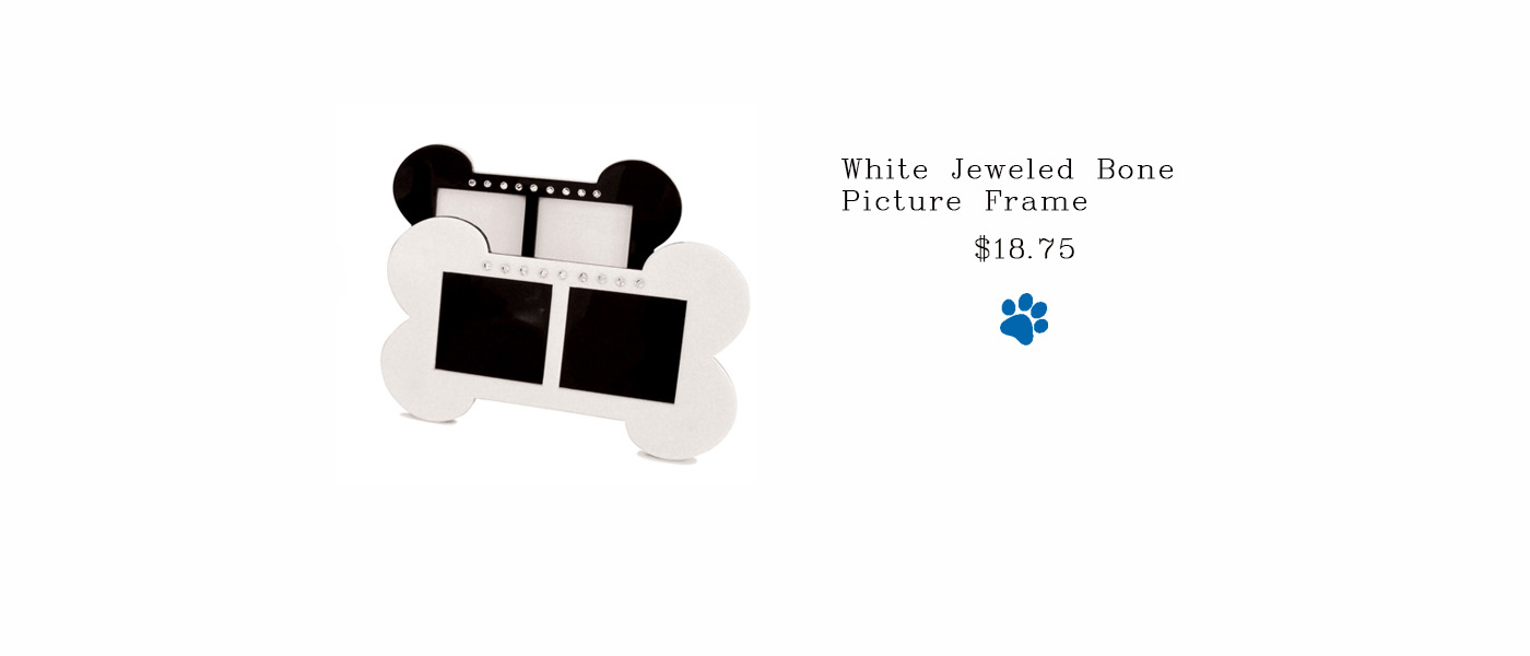 White Jeweled Bone Picture Frame